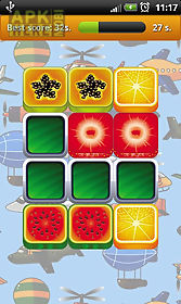 fruit memory game for kids