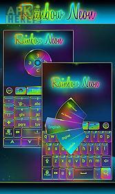 rainbow neon go keyboard theme