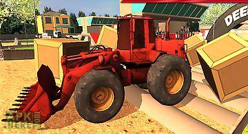 Bulldozer machine simulator 3d