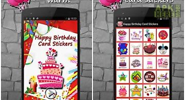 Happy birthday card stickers