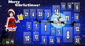 Santa girl advent calendar fun