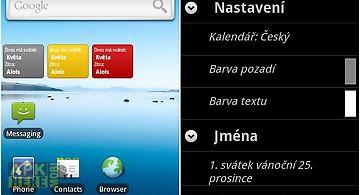 Czech-slovak namedays widget