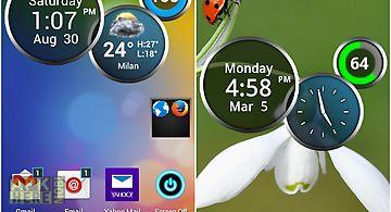 Rings digital weather clock
