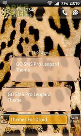 leopard theme for go sms pro