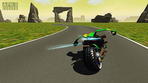 flying motorbike stunt rider