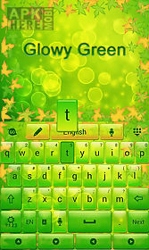 glowy green go keyboard theme