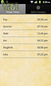 prayer times with qibla compas