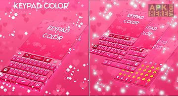 Keypad color pink