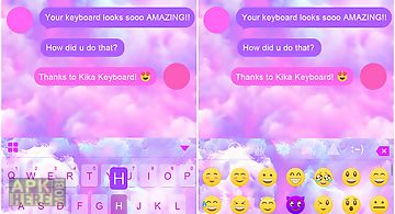 Pink cloud kika keyboard theme
