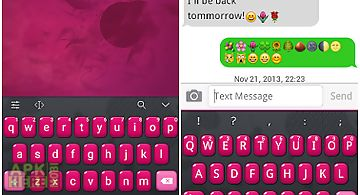 Emoji keyboard+ red love theme