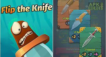 Flip the knife challenge