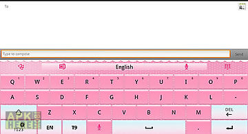 Go keyboard pink theme(pad)