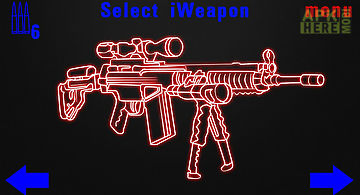 Simulator neon weapon