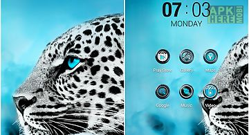 Blue eyes atom theme