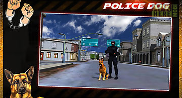 Crime city police dog chase