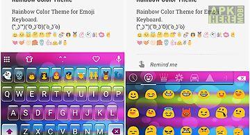 Rainbow color emoji keyboard