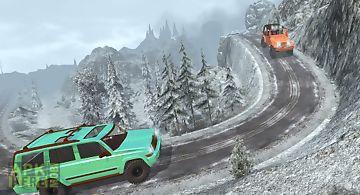 Offroad jeep hill climb driver