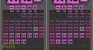 3d flip clock widgets pink