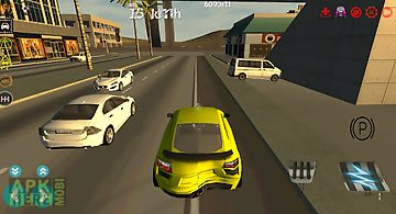 Airport taxi parking drive 3d