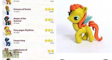 Magic of clay: pony and horses