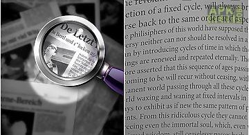 Magnifying glass flashlight