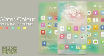 Watercolour go launcher theme