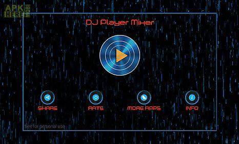 dj player mixer