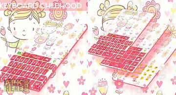 Keyboard childhood theme