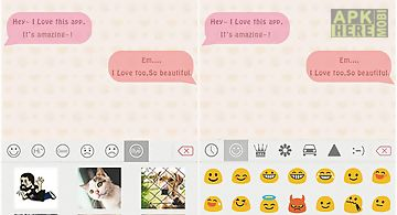 Pink theme for emoji keyboard