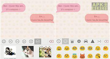Pink theme for emoji keyboard