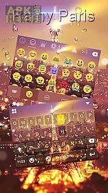 rainy paris keyboard theme