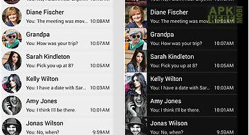 Sliding sms (cm messaging)