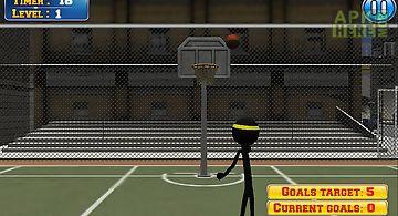 Basketball with stickman