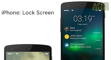 Iphone 5 clock for Android free download at Apk Here store
