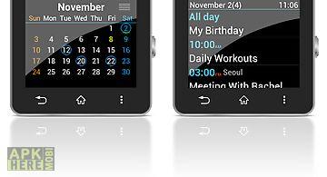 Calendar for smartwatch 2