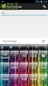 keyboard theme glass rainbow