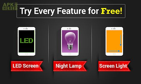 led torch bulb: flashlight app
