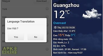Vietnamese language goweather