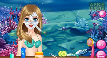 Mermaid spa games for girls