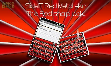 slideit red metal skin