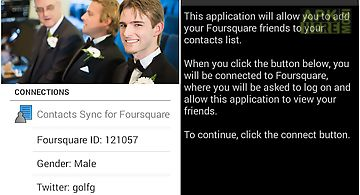 Contacts sync for foursquare