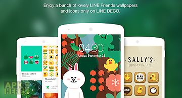 Wallpapers, icons - line deco