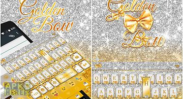 Glitter gold emoji keyboard