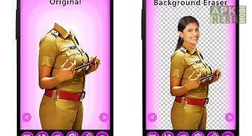 Lady police uniform photo suit