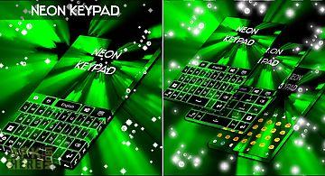 Neon keypad green