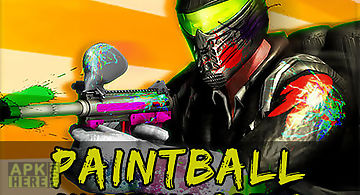 Paintball shooting arena: real b..