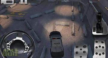 Police car parking 3d hd