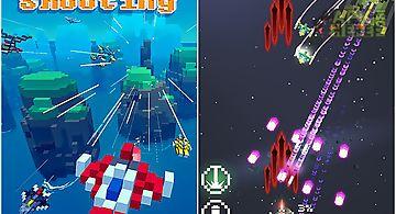 Retro shooting: pixel space shoo..