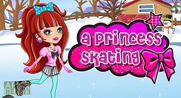 Dressup a princess skating