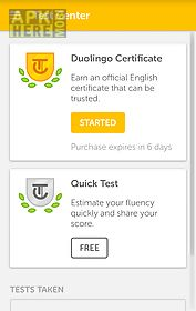 Duolingo english test for Android free download at Apk Here